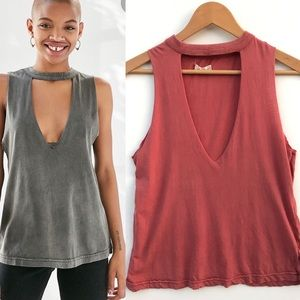 UO Silence + Noise Florence Cut It Out Muscle Tank